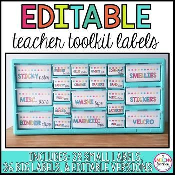 Bright Editable Teacher Tool Kit Labels Teacher Tools Teacher Toolkit Teachers Toolbox