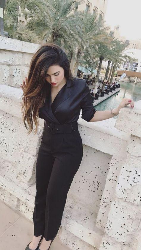 Asian Beautiful Girl In Black Dress