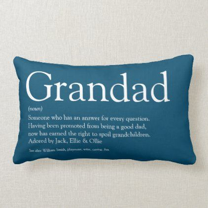 Personalised Cushion  for Grandad Dad Fathers Day Gift  linen Daddy Great Gift