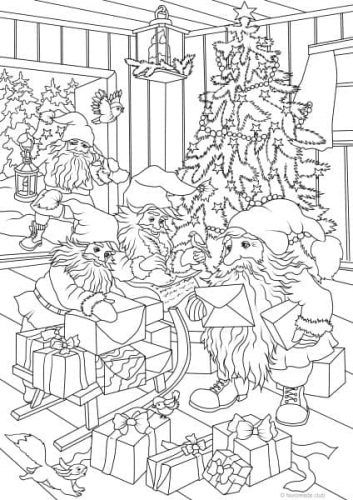 Santa S Workshop Free Christmas Coloring Pages Printable Adult