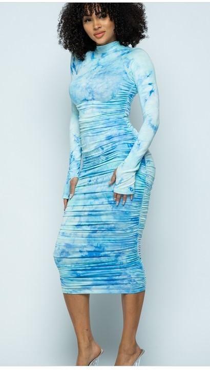 16+ Blue tie dye dress information
