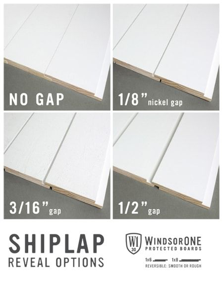 Shiplap Reveal Options Windsorone Shiplap Wall Diy Shiplap Plank Walls