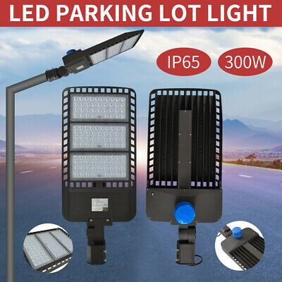 Details About 300w Led Street Light Outdoor Garden Pathway Led Parking Lot Light Ip65 Us Top Led Parking Lot Lights Parking Lot Lighting Street Light