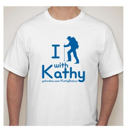 Tshirt Fundraiser - I Hike Stand with Kathy T-shirt Order Form - t shirt order form