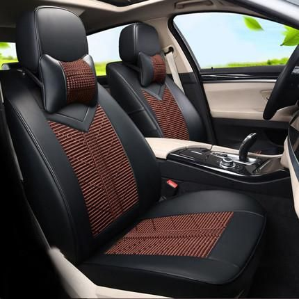 Custom Cover Seat Car Accessories For Nissan Patrol Car Seat Cover Set Pu Leather Ice Silk Seat Covers Supports Black Cushion Car Seats Leather Car Seat Covers Dodge Journey