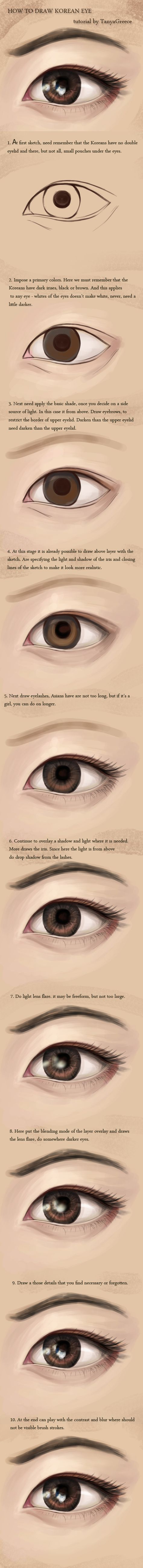 How To Draw Korean Eye By Tanyagreece On Deviantart Eye Drawing Realistic Eye Drawing Drawings