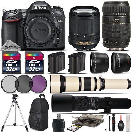 Nikon D7100 Dslr Camera 18 140mm Vr Lens 70 300mm 650 1300mm 500mm Lens Walmart Com Dslr Camera Dslr Zoom Lens