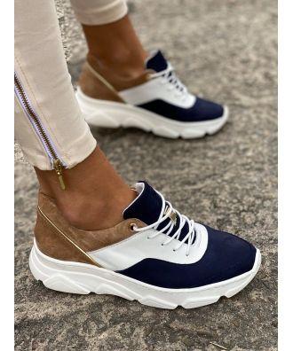 Sportowe Buty Rusin Free Navy White Skora Naturalna Polska Produkcja Sneakers Nike Shoes Sneakers