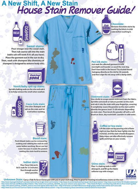 A new shift, a new stain! Extremely helpful to us CNA's, Nurses, Medical Assistants, Surgeons, Doctors, ect.