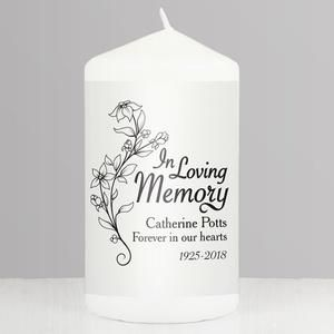 Personalised In Loving Memory Candle Personalized Candles Personalized Memorial Candles Memorial Candle