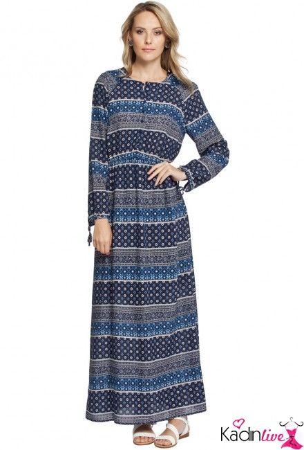 Yeni Sezon Lcw Desenli Uzun Elbise Modelleri Kadinlive Com Elbise Modelleri Moda Stilleri Uzun Elbise
