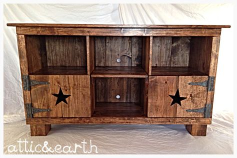 Country rustic entertainment center by atticandearth on Etsy https://www.etsy.com/listing/228092310/country-rustic-entertainment-center