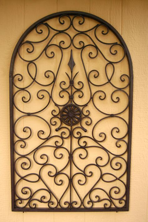 Tuscan Wall Decor - Iron Wall Grille ~ I would need 2 to use on its ...