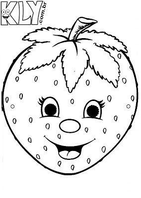 Desenhos De Morango Para Colorir Desenho De Morango Desenhos De