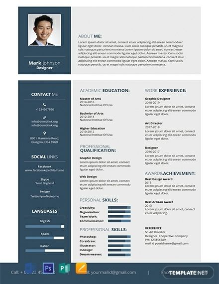 244 Free Resume Templates Word Psd Indesign Apple In 2020 Free Cv Template Word Downloadable Resume Template Resume Template Free