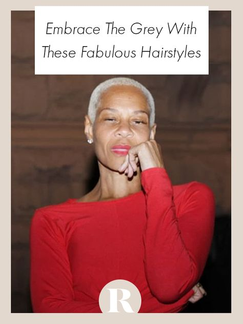 These fambulouse hairstyles will inspire you to embrace the grey. #embracethegrey #greyhair #goinggrey