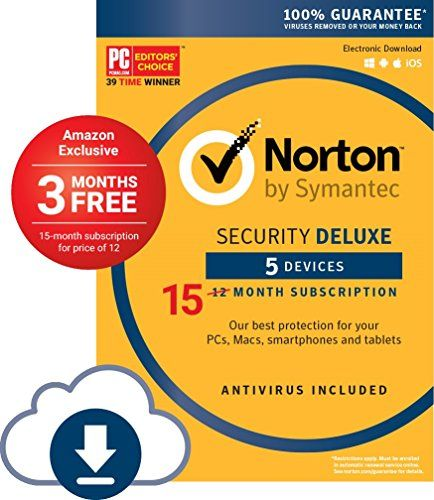 Norton Security Deluxe 5 Devices Amazon Exclusive 15 M Https Www Amazon Com Dp B01mf5mtwp Ref Cm Norton Security Mac Download Coding Software