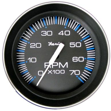 Faria 4 Tachometer 7000 Rpm All Outboard Coral W Stainless Steel Bezel 33005 Gauges Steel Things To Sell