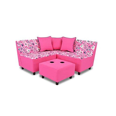 Kangaroo Trading Tween Sectional 6 Pieces Wildflower Navy Passion Pink Childrens Sofas Girl Room Inspiration Kids Couch Kids Sofa Chair