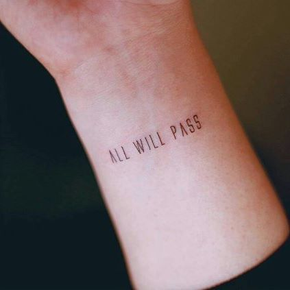 'All will pass' by @seoeontattoo #smalltattoos #life #art #awesome #fashion…