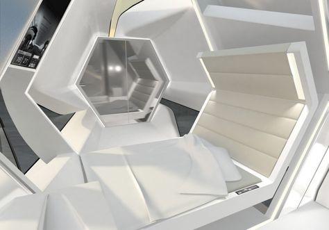 Living Roof by adNAU, Futuristic Interior