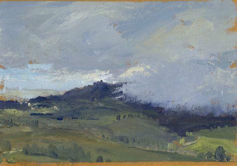 """John David Wissler """"Monument"""" - 7 x 10, Oil on paper"""