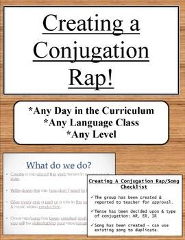 Creating A Conjugation Rap Song Project Any Level Any Language