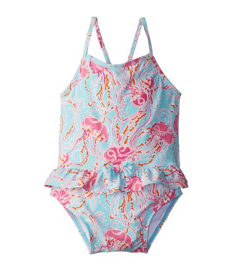 4e68ffa9a3 Lilly Pulitzer Kids Arbor Swimsuit (Infant) Spa Blue Jellies Be Jammin Mini  - Zappos.com Free Shipping BOTH Ways