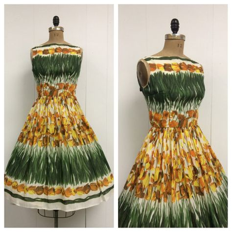 1950s Tulip Sundress Dress 50s on Etsy, $325.00