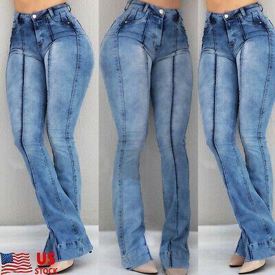 Enlace De Ebay Pantalones Vaqueros Acampanados Elasticos De Cintura Alta Para Mujer Pantalones Acampana Pantalones Acampanados Pantalones Pantalones Vaqueros