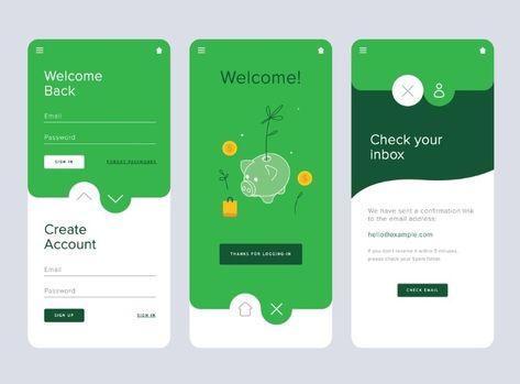 Savings / Money App Design, Editable App, Finance and E-commerce
