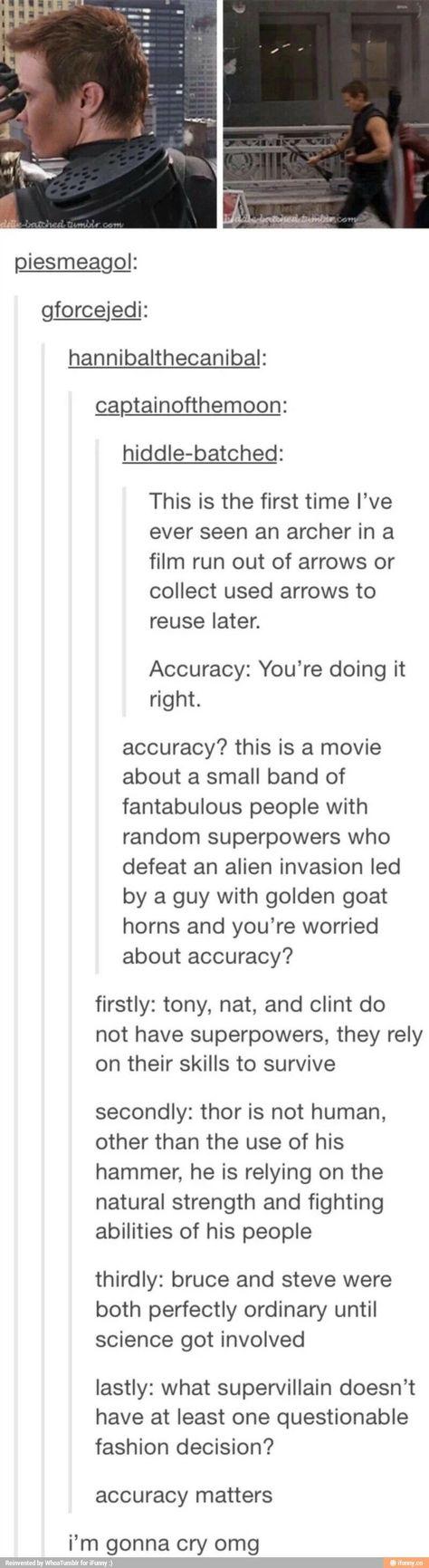 Accuracy of Avengers