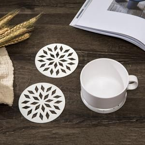 These Creative Designer Silver Coasters Are The Perfect Combination Of Utility And Decor Made Of Pvc Which Makes It Coasters Unique Placemats Unique Coasters