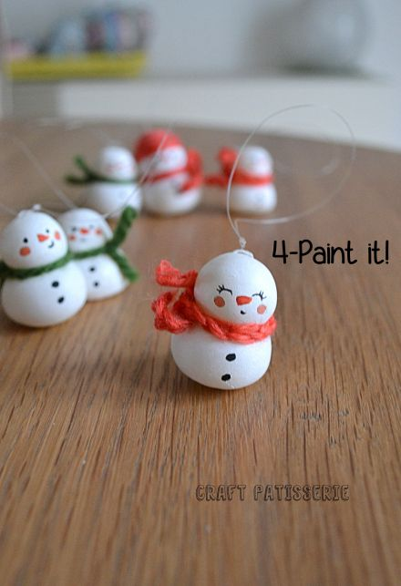 cold porcelain snowman DIY
