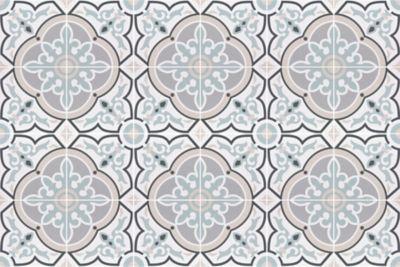 Decor Daiza White Pav Porcelain Wall and Floor Tile , 8 x 8 in.