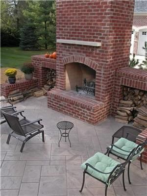 Patio Color Ideas One Of The Best Things About Using New Patio Color Ideas Patiocolorideas Patiocolor Patiodesign Concrete Patio Backyard Fireplace Patio