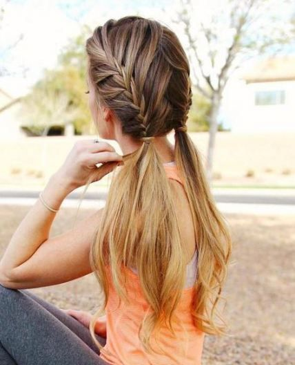 Super Hair Braids Two Pony Tails Ideas Sporty Hairstyles Braids For Long Hair Thick Hair Styles