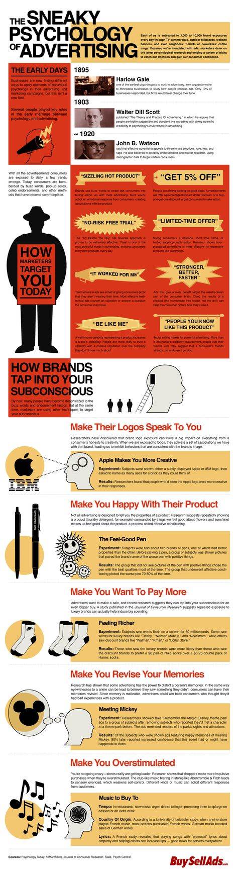 The sneaky psychology of advertising - infographic