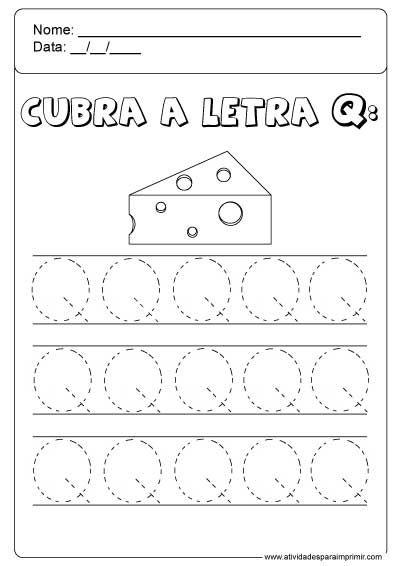 Cubra A Letra Q Atividade Alfabeto Educacao Infantil Atividades