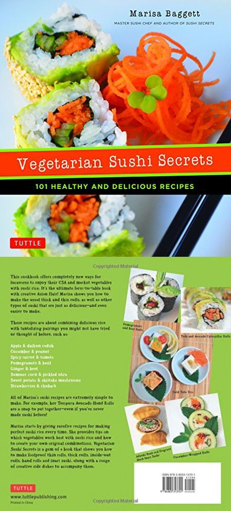 101 Healthy and Delicious Recipes Vegetarian Sushi Secrets