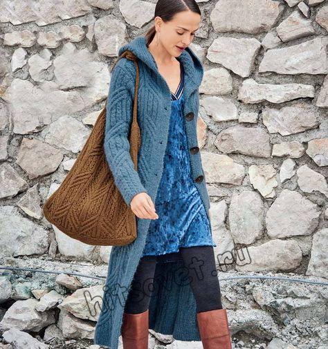 Длинное вязаное пальто, фото. | Пальто, Вязаное крючком пальто