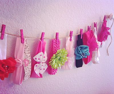 At Home With The Hansens: {DIY} Headband Storage