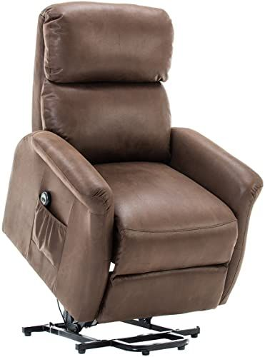 Buy Belardo Home Lift Recliner Classic Power Lift Chair Soft Warm Fabric Remote Control Gentle Motor Palomino Brown Online Findandbuytopstyle In 2020 Faux Leather Chair Lift Chairs Recliner Chair
