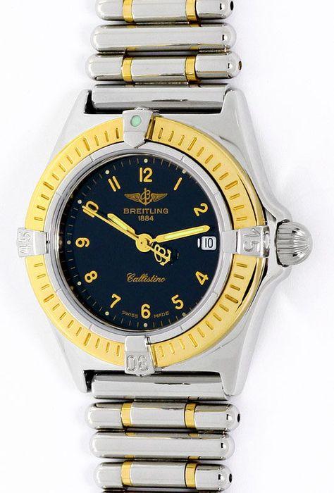 Foto 2, Breitling Callistino Rouleaux-Band Stahl-Gold Damen-Uhr, U2272
