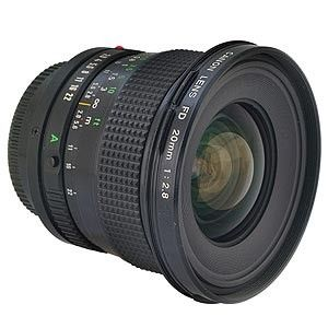 Canon 20mm F 2 8 Fd Mount Lens 72 Lens Canon Mounting