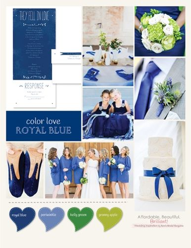 What Colors Go With Royal Blue For A Wedding