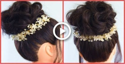 Easy Bun Hairstyle Messy Bun Hindi Bun Easy Hairstyle Hindi Messy Messybuntutorial Easy Bun Hairstyles Bun Hairstyles Messy Bun Hairstyles