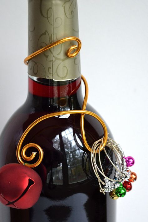 Christmas Wine Bottle Decoration with Wine by CreativeArtbyME, $18.00