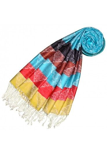 Modal Scarf Colorful Stripes Bunt Streifen Schals