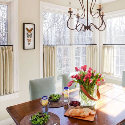 Let The Outdoors In With Short, Sweet Curtains | Here's How..., maybe I just need simple solid curtains in our dining area?